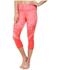 Alo Yoga Airbrushed Capri Poppy Casbah Women's Workout Coral