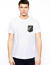 Brave Soul T Shirt With Pu Pocket White