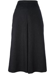 Saint Laurent Pinstripe Culottes Black