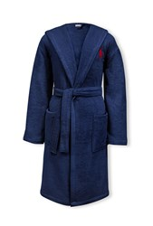 Ralph Lauren Home Player Bath Robe Blue