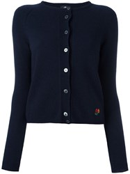 Paul Smith Ps By Crew Neck Cardigan Blue