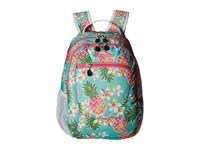 High Sierra Curve Backpack Pineapple Party Pink Lemonade White Backpack Bags Green