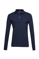 French Connection Men's Brunswick Long Sleeved Polo Shirt Marine