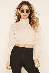 Forever 21 Mock Neck Crop Top