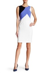 Nine West Colorblock Sheath Dress Multi