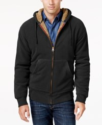 Weatherproof Vintage Men's Big And Tall Faux Sherpa Lined Hoodie Only At Macy's Black