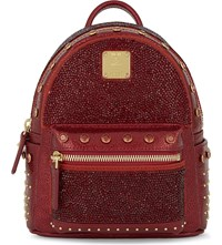 Mcm Stark X Mini Leather Backpack Ruby Red