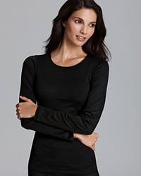Hanro Cotton Seamless Long Sleeve Shirt 1620 Black