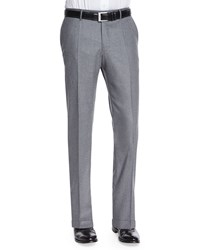 Incotex Wool Cashmere Flannel Trousers Gray