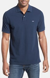 Men's Vineyard Vines 'Classic' Pique Knit Polo Vineyard Navy
