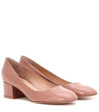 Gianvito Rossi Linda 45 Patent Leather Pumps Pink
