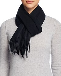 Bloomingdale's C By Solid Cashmere Scarf Black