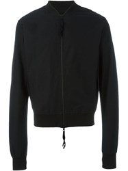 Thom Krom Cropped Bomber Jacket Black