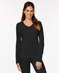 Cuddl Duds Softwear Lace Top Black