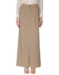 Alviero Martini 1A Classe Skirts Long Skirts Women Khaki