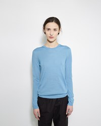 Jil Sander Cashmere Silk Sweater Blue
