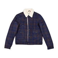 Garbstore Sherpa Lined 2.5 Jacket Checked Navy