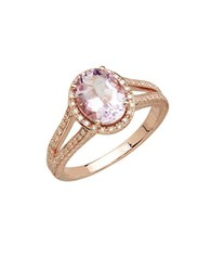 Lord And Taylor Pink Amethyst Diamond 14K Rose Gold Ring
