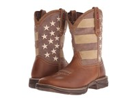 Durango Rebel 12 Faded Glory Tan Distressed Flag Men's Boots Brown
