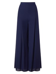 Jacques Vert Chiffon And Jersery Lined Trs Blue