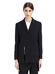 J.W.Anderson New Season J.W. Anderson Womens Cut Away Wool Suiting Jacket
