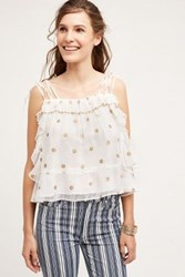 Anthropologie Shimmered Sun Cami Ivory