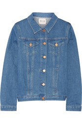 Mih Jeans Straight Stretch Denim Jacket Blue