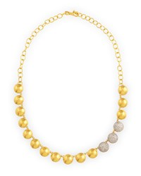 Lentil Ice 24K Gold And Diamond Necklace Gurhan White