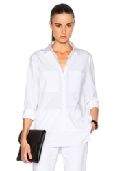 Kaufman Franco Kaufmanfranco Cotton And Sheer Silk Blouse In White