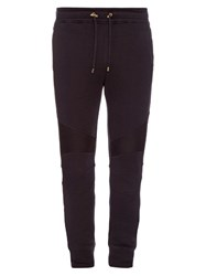 Balmain Biker Slim Leg Cotton Track Pants