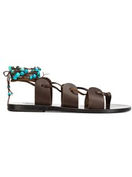 Ancient Greek Sandals 'Amaryl Lis Stones' Brown