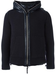 Duvetica Shell Trim Knitted Jacket Blue