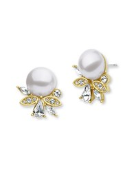 Jenny Packham Simulated Pearl Cluster Earrings