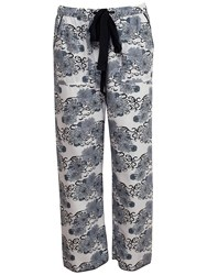 Cyberjammies Timeless Elegance Floral Print Pyjama Bottoms White Multi