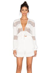 Lucy Paris Self Tie Knotted Romper White