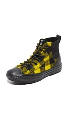Converse Chuck Taylor X Woolrich All Star Chelsea High Top Sneakers Black Bitter Lemon Black