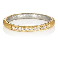 Malcolm Betts Women's Diamond And Platinum Narrow Band No Color