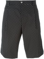 Dolce And Gabbana Pleated Polka Dot Shorts Black