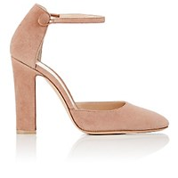 Gianvito Rossi Women's 54 Suede Mary Jane Pumps Pink