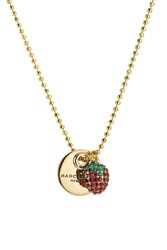 Marc Jacobs Strawberry Coin Necklace Gold