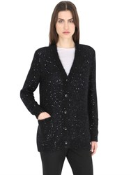 Saint Laurent Glitter Oversized Mohair And Silk Cardigan
