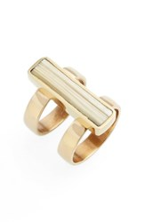 Soko Women's Horn Bar Ring Brass Natural
