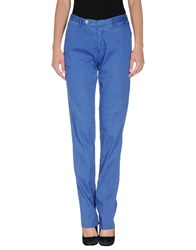 Original Vintage Style Trousers Casual Trousers Women Blue