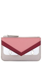 Women's Fendi 'Monster' Crystal Embellished Leather Key Pouch