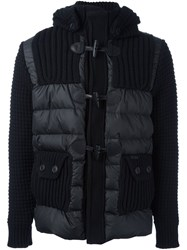 Bark Quilted Zip Up Jacket Black