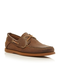 Timberland 6306A Lace Up 2 Eye Boat Shoes Dark Brown