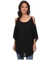 Gabriella Rocha Elly Open Shoulder Top Black Women's Blouse