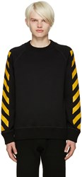 Moncler X Off White Black Striped Sleeves Sweatshirt