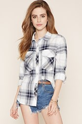Forever 21 Snap Buttoned Plaid Shirt