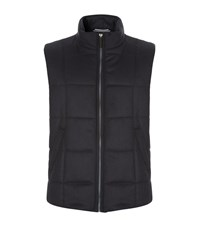 Harrods Of London Quilted Cashmere Gilet Male